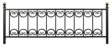 Ограда Кованый лотос